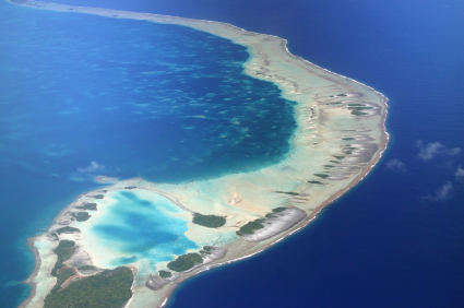 Aerial view of Rangiroa