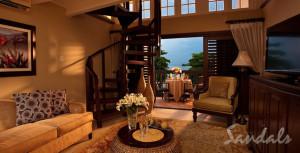 Two-story Loft Suite at Sandals Negril